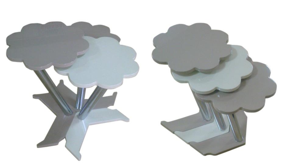 çiçek şeklinde zigon sehpa modelleri