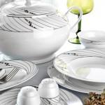 çizgili çorbalıklı karaca yemek takımları modelleri 150x150 Karaca Yemek Takımı Modelleri