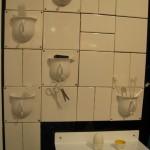 üç boyutlu saksılı banyo fayansları modelleri