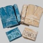 şal desenli özdilek bornoz-havlu takımları modelleri