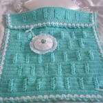 şapka takımlı mavi renkli bebek battaniye modelleri