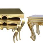 altın varaklı klasik zigon sehpa modelleri
