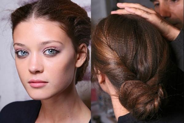 alttan bayan topuz saç modelleri