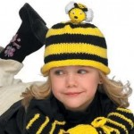 arı temalı örgü bebek şapka modelleri