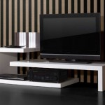 asimetrik beyaz LCD tv sehpası modeli
