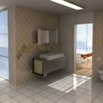 baklava desenli döşenmiş banyo fayansları modelleri