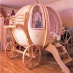 yüksek yuvarlak cindirella arabası şekilli bebek beşik modelleri