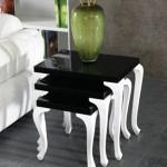 beyaz ayaklı siyah zigon sehpa modelleri