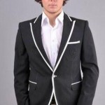beyaz biyeli siyah erkek ceket modeli 150x150 Erkek Ceket Modelleri