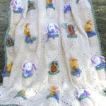 beyaz civciv figürlü bebek battaniye modelleri