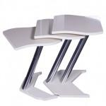 beyaz kare metal ayaklı zigon sehpa modelleri