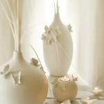 beyaz kelebekli salon süs eşyası modelleri