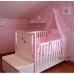 beyaz pembe bebek besik modelleri 150x150  Bebek Beşik Modelleri