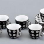 beyaz puanlı siyah fincan takımları modelleri