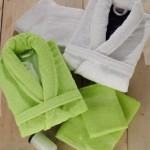 beyaz yesil  özdilek bornoz-havlu takımları