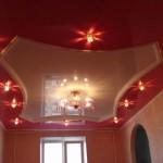 bordo parlak ve şekilli asma tavan modelleri