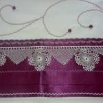 bordo renkli dantelli pike motifli dantel ornekli pike takimlari