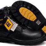 cat erkek bot siyah bağcıklı sarı tabanlı modeli 150x150 2013 Cat Erkek Bot Modelleri