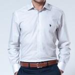 düz beyaz küçük logolu us polo erkek gömlek modelleri 150x150 U.S Polo Erkek Gömlek Modelleri