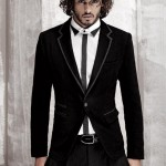 deri biyeli siyah kadife erkek ceket modeli