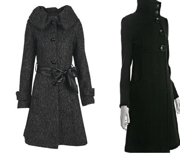 dik yakalı siyah uzun bayan kaşe palto modelleri