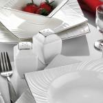 farklı dizayn beyaz kare karaca yemek takımları modelleri