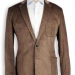 fitilli kadife toprak renkli erkek ceket modeli
