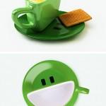 gülen yüz şekilli yeşil fincan takımları modelleri