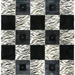 geometrik şekilli pier cardin halı modelleri