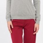 gri kırmızı lcw bayan pijama modeli