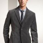 gri kadife cepli erkek ceket modeli
