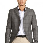 gri kareli erkek ceket modeli