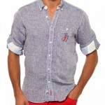 gri keten kumaş us polo erkek gömlek modelleri