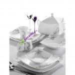 gri yaprak desnli karaca yemek takımları modelleri 150x150 Karaca Yemek Takımı Modelleri
