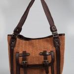 hasır desenli kahverengi askılı lcw çanta modelleri