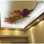iri çiçek desenli asma tavan modelleri