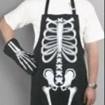 iskelet resimli mutfak önlükleri modeli