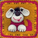 köpekli sarı pembe bebek battaniye modelleri