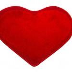kırmızı kalpli banyo halıları modelleri 150x150 Banyo Halıları Modelleri
