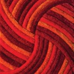 kırmızı turuncu pembe farklı pier cardin halı modelleri
