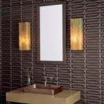 kahverengi enine çizgili dekoratif banyo fayansları modelleri