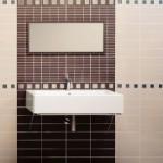 kahverengi farklı fayanslı banyo fayansları modelleri