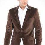 kahverengi kadife erkek ceket modeli