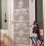 kapı için el örgü perde modelleri