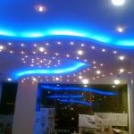 koyu mavi ışıklı asma tavan modelleri