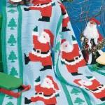 noel baba figürlü bebek battaniye modelleri
