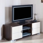 ortası raf yanları dolaplı LCD tv sehpası modeli