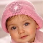 pembe örgü bebek şapka modelleri