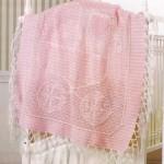 pembe örgü bebek battaniye modelleri