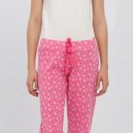 pembe beyaz lcw bayan pijama modeli
